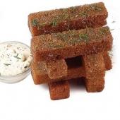 Гренки с сыром и чесночным соусом