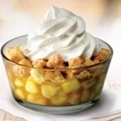 Яблочный десерт с мороженым
