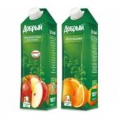 Сок 1 л (ябл.апельсин)
