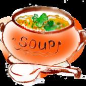 Суп с грибами, курицей и домашней лапшой